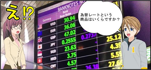為替レートはいくらですか?